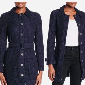 Athro Cupcakes and cashmere lace trench coat NWT